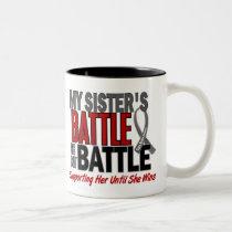 Brain Cancer MY BATTLE TOO 1 Sister Two-Tone Coffee Mug
