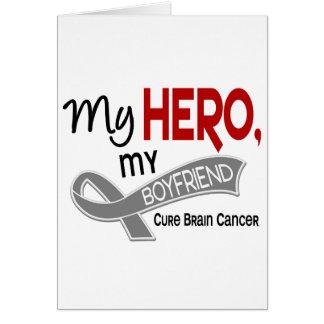 Brain Cancer MY HERO MY BOYFRIEND 42 Greeting Card