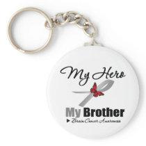 Brain Cancer My Hero My Brother Keychain