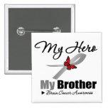 Brain Cancer My Hero My Brother Pin
