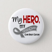 Brain Cancer MY HERO MY GRANDMA 42 Button