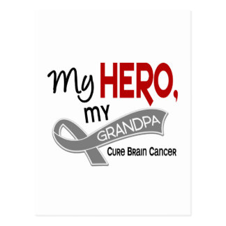 Brain Cancer MY HERO MY GRANDPA 42 Postcard