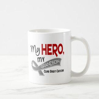 Brain Cancer MY HERO MY GRANDSON 42 Classic White Coffee Mug