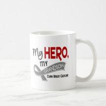 Brain Cancer MY HERO MY GRANDSON 42 Coffee Mug