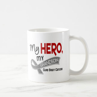 Brain Cancer MY HERO MY GRANDSON 42 Coffee Mug