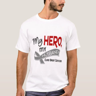 Brain Cancer MY HERO MY HUSBAND 42 T-Shirt
