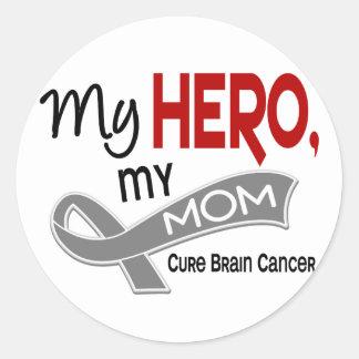 Brain Cancer MY HERO MY MOM 42 Round Stickers