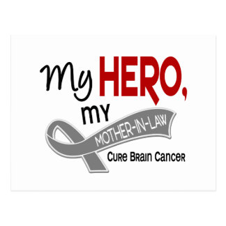 Brain Cancer MY HERO MY MOTHER-IN-LAW 42 Postcard