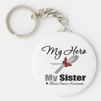 Brain Cancer My Hero My Sister Key Chains