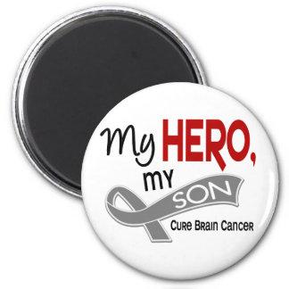 Brain Cancer MY HERO MY SON 42 2 Inch Round Magnet