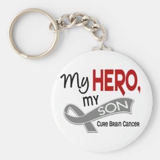 Brain Cancer MY HERO MY SON 42 Key Chain