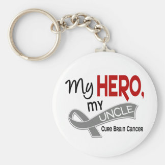 Brain Cancer MY HERO MY UNCLE 42 Keychain