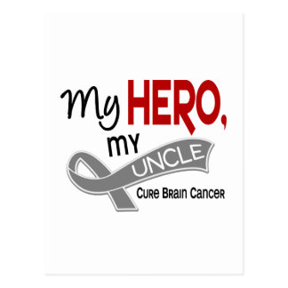 Brain Cancer MY HERO MY UNCLE 42 Postcard