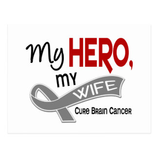 Brain Cancer MY HERO MY WIFE 42 Postcard