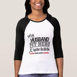 Brain Cancer My Husband Hero Together We Will Win Shirt