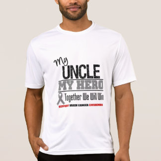 Brain Cancer My Uncle My Hero Together We Will Win T-shirt