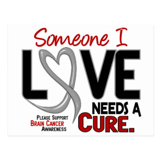 Brain Cancer NEEDS A CURE 2 Postcard