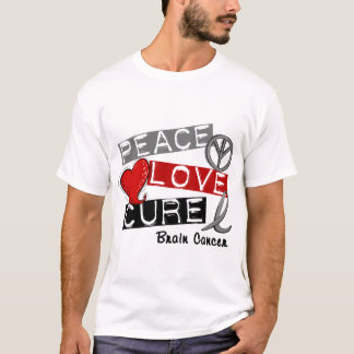 Brain Cancer PEACE LOVE CURE 1 T-Shirt