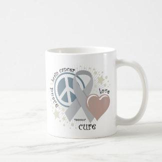 Brain Cancer Peace Love Cure Coffee Mug