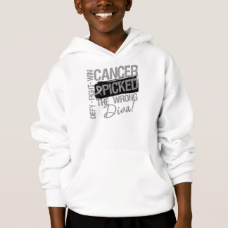 Brain Cancer Picked The Wrong Diva Hoodie