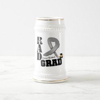 Brain Cancer Radiation Therapy RAD Grad 18 Oz Beer Stein