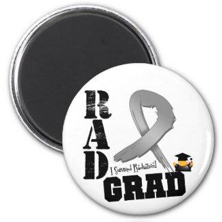 Brain Cancer Radiation Therapy RAD Grad 2 Inch Round Magnet