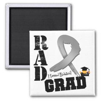 Brain Cancer Radiation Therapy RAD Grad 2 Inch Square Magnet