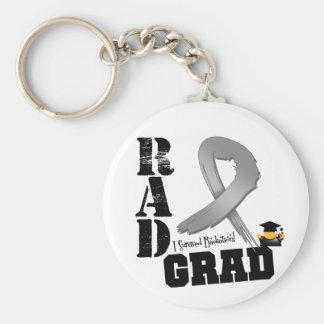 Brain Cancer Radiation Therapy RAD Grad Basic Round Button Keychain