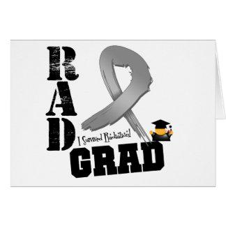 Brain Cancer Radiation Therapy RAD Grad Greeting Card