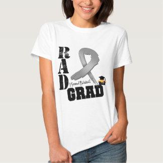 Brain Cancer Radiation Therapy RAD Grad T-shirt
