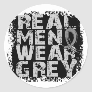 Brain Cancer Real Men Wear Grey Stickers