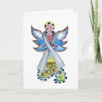 Brain Cancer Ribbon Angel Card