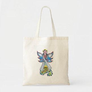 Brain Cancer Ribbon Angel Carry Bag