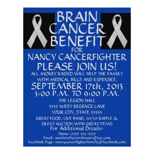 Brain Cancer Ribbon Benefit Flyer