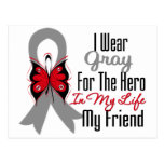 Brain Cancer Ribbon Hero My Friend Post Cards