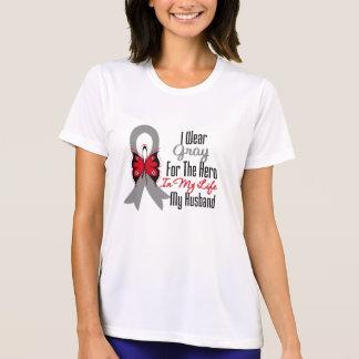 Brain Cancer Ribbon Hero My Husband T-shirts
