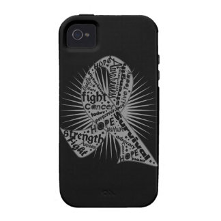 Brain Cancer Ribbon Powerful Slogans Vibe iPhone 4 Covers