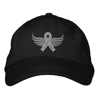 Brain Cancer Ribbon Wings Baseball Cap