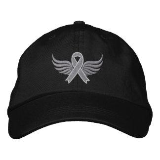 Brain Cancer Ribbon Wings Cap