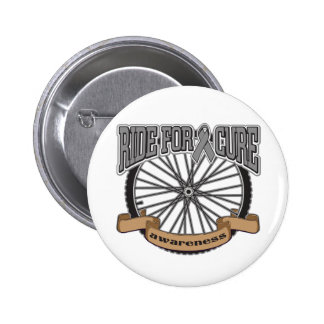 Brain Cancer Ride For Cure Pinback Buttons