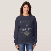 Brain Cancer Rock Star Ladies Sweatshirt