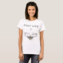 Brain Cancer Rock Star Ladies T-Shirt