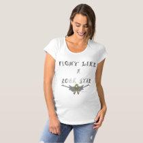 Brain Cancer Rock Star Maternity T-Shirt