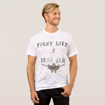 Brain Cancer Rock Star Men's Burnout T-shirt