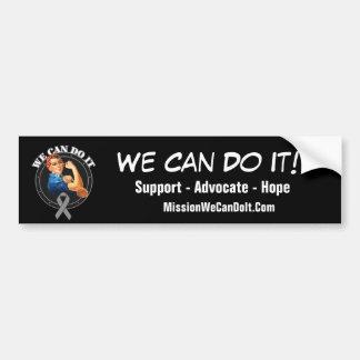 Brain Cancer - Rosie The Riveter - We Can Do It Car Bumper Sticker