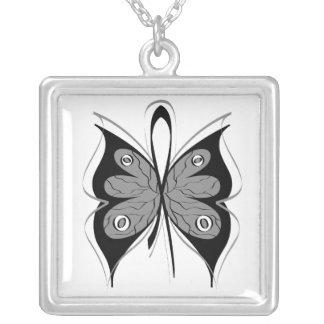 Brain Cancer Stylish Butterfly Awareness Ribbon Custom Jewelry