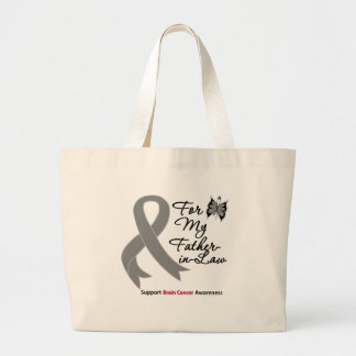 BRAIN CANCER SUPPORT For My Father-in-Law Bag