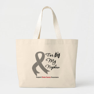BRAIN CANCER SUPPORT For My Nephew Canvas Bags