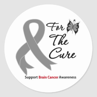 BRAIN CANCER SUPPORT For The Cure Stickers