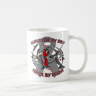 Brain Cancer Survivor By Day Ninja By Night Classic White Coffee Mug